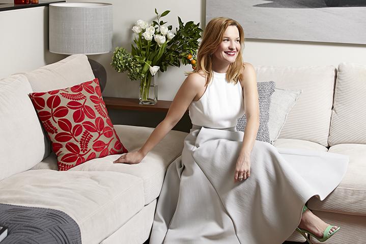 Melanie in her stunning Sydney apartment