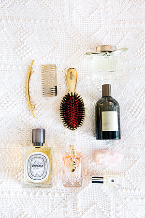 PRETTY FRAGRANCES AND GOLDEN HAIR TOOLS