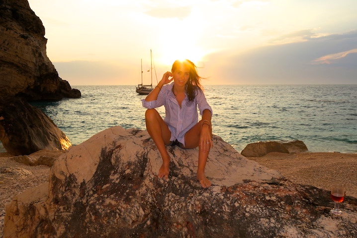 Sigourney on her recent boat trip around the Greek Islands