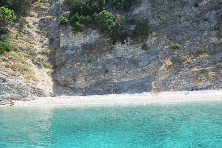 Off the coast of Kefalonia, Greece.