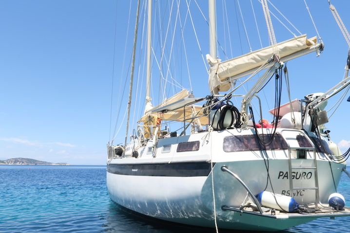 The 40 foot yacht Sigourney sailed on for six days