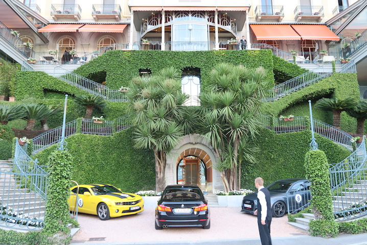 The driveway at the Grand Hotel Tremezzo