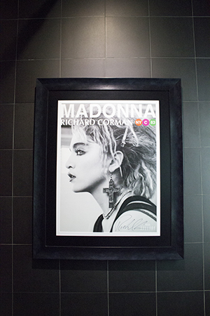 all hail the queen; anthony's devotion to madonna is manifest in the ensuite at raw
