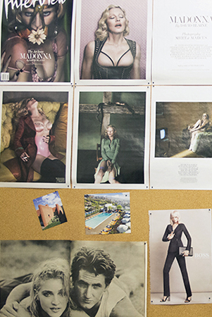 editorial afficiondo; a snapshot of anthony's wall of inspo, naturally featuring ms. m
