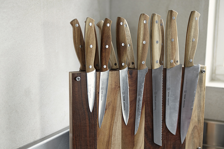 A collection of knives from West Elm