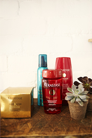 anna swears by olive oil and kerastase to keep her blonde strands in top shelf health