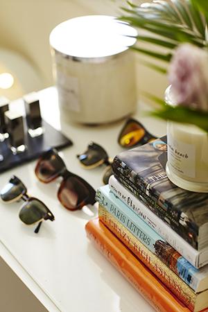 ray bans, palm beach candles and parisian books
