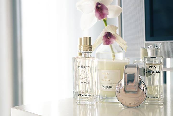 Sami's favourite fragrances adorn her sideboard