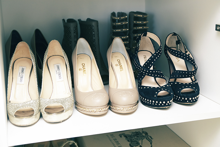 The TV star turned tour guide has an impressive collection of heels