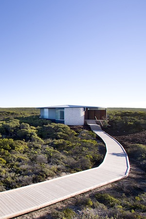 the luxurious spa against the Rustic australian backdrop