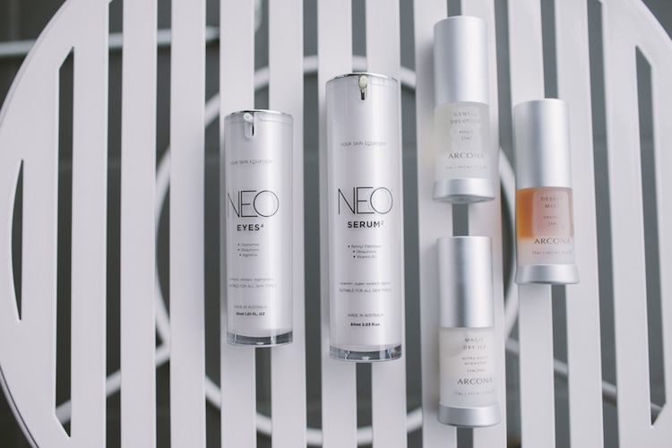 Arcona and Neo are skincare brands she swears by