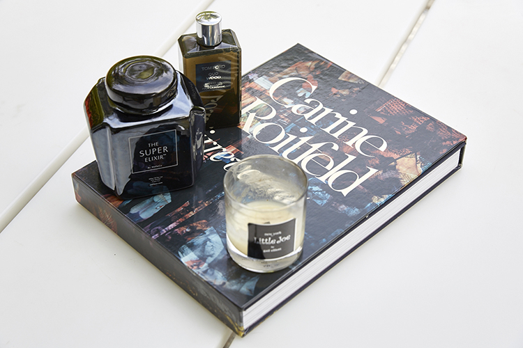 Fashion books, candles and The Super Elixir are amongst Gail's treasure