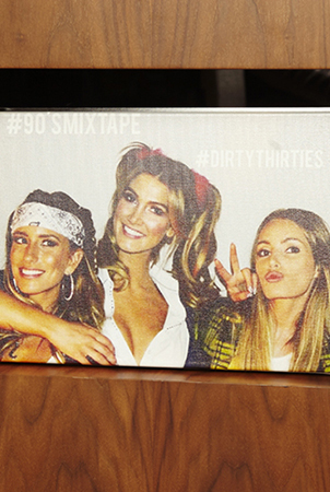 delta and besties renee and danielle,dressed up as britney spears, Jlo and cher from clueless at her 30th birthday party