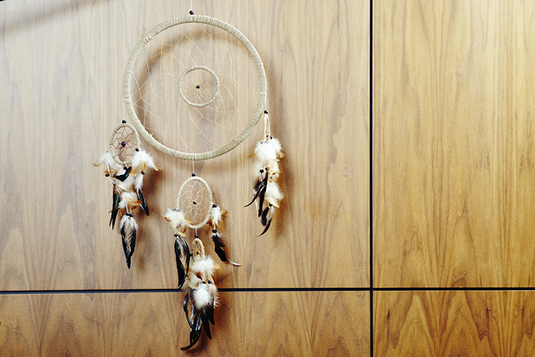 One of the many dream catchers Delta has in her home