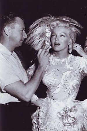 Marilyn with her makeup artist allan whitey snyder