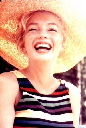 marilyn kept her peaches and cream complexion by hiding from the sun