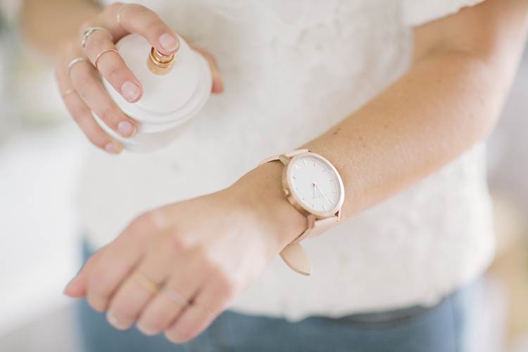 White and rose gold make for dreamy perfection