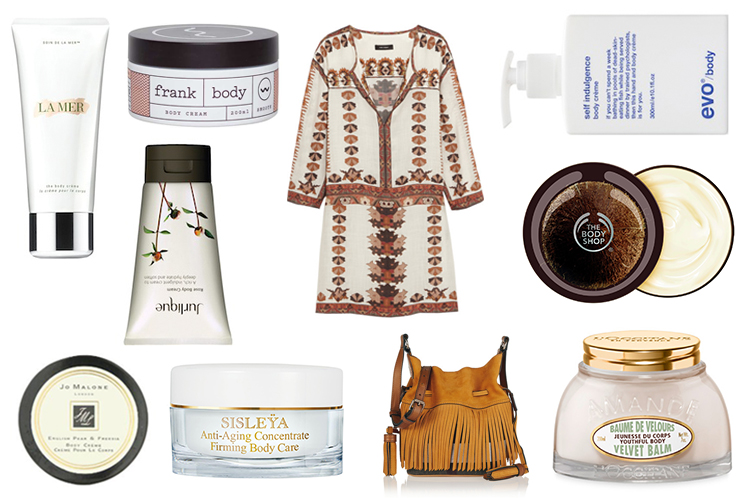 BEAUTICATE LOVES....BARING SKIN WITH SUMMER'S BOHEMIAN TRENDS:  ISABEL MARANT SANDRINE MINI DRESS  AND  BURBERRY SUEDE AND CANVAS BUCKET BAG