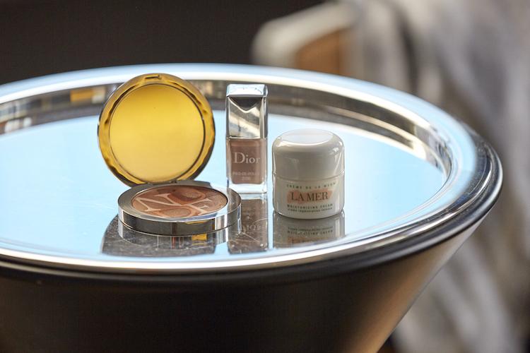 Beauty basics include Diorskin, Dior Nail Polish and La Mer Creme de la Mer