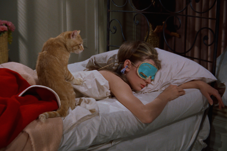 Holly Golightly with her beloved Cat in Breakfast at Tiffany's