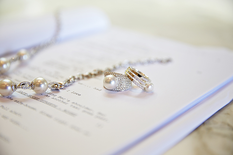 Opalescent Kailis pearls, dazzling diamonds and her latest script to read