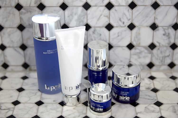 La Prairie lady; Grace has recently become a devotee to the luxe skincare brand