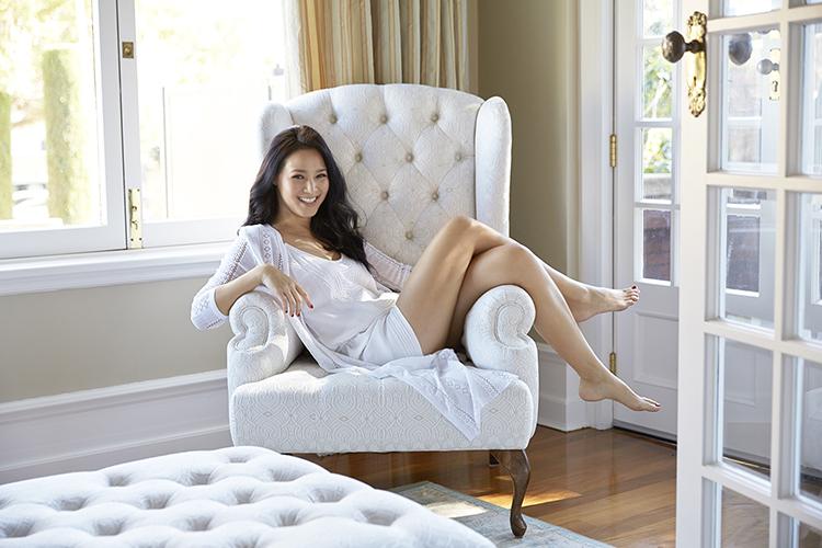 The Asian beauty swears by warm water