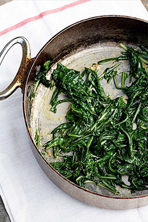 Food blogger Meredith Steele's recipe for  dandelion greens with mustard vinaigrette  are a quick and easy accompaniment to any meal