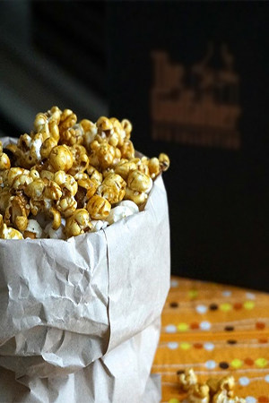Recipe for  Yacon Syrup Popcorn  from A Skinny Dish is perfect for a healthy Friday night movie snack
