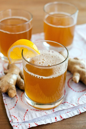 Ginger infused kombucha drink  recipe by The Kitchn and photo by Emma Christensen