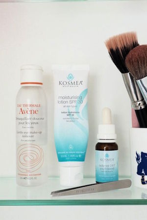 kosmea and avene skincare top her list