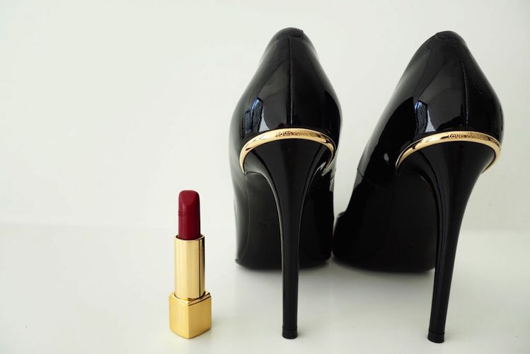 A match made in heaven: Louis Vuitton shoes and Chanel lipstick
