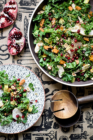 kale and pomegranate never looked so sexy