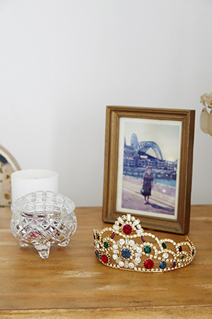 Elegant dressing table details