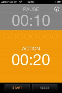 An app for timing tabata sprints