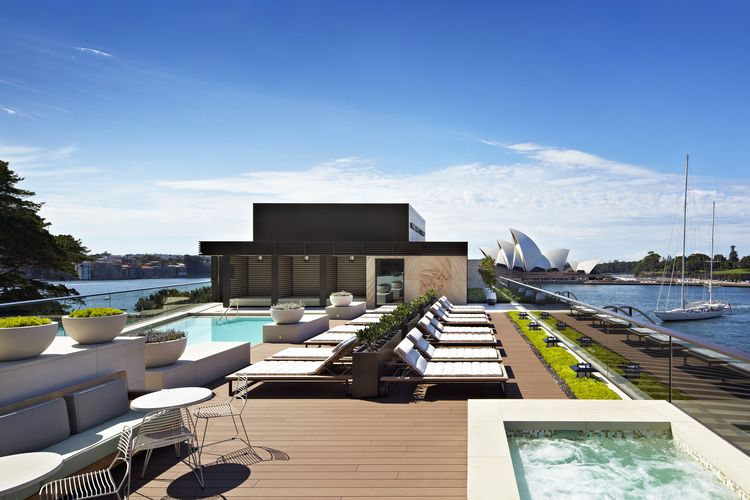 The Park Hyatt's rooftop pool boasts a view of the stunning Sydney skyline
