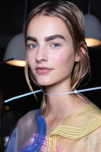 Backstage at Christopher Kane SS16 with NARS