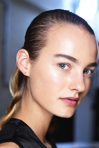 Backstage at J.W.Anderson SS16 with NARS