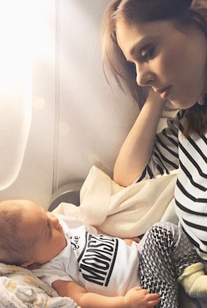 Ioni's first plane ride shared on coco's instagram