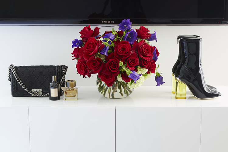 Fresh flowers compliment her sleek home