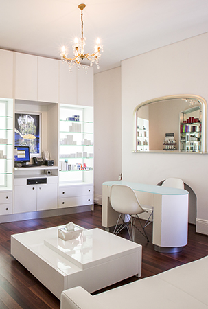 the salon has a warm, inviting feel