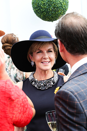 Julie Bishop looks stunning in armani
