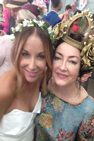 The lovely Leona and penny hunt compare headwear
