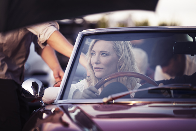 Driving Miss Daisy: Cate on the set of the Armani Si campaign.