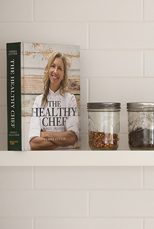 Teresa's new book, the healthy chef