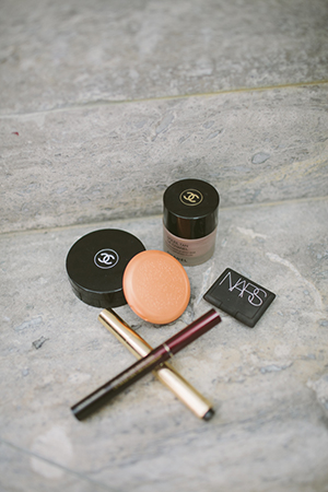 nat's beauty loot includes ysl touche eclat, chanel vitalumiere, stila and kevin aucoin