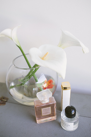 floating white calla lilies compliment nat's favourite french fragrance