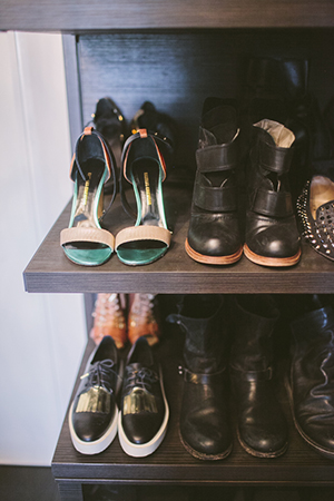 shoe envy; a glimpse into her shoe-drobe