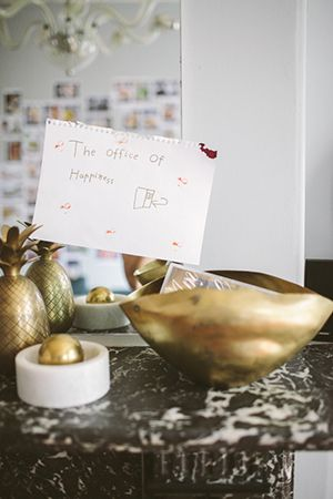 """the office of happiness""; a beautifully sweet note left by karen's daughter"