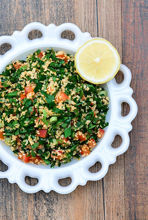 Amp up your intake of fresh herbs like parsley with this lebanese tabbouleh by the spice kit recipes